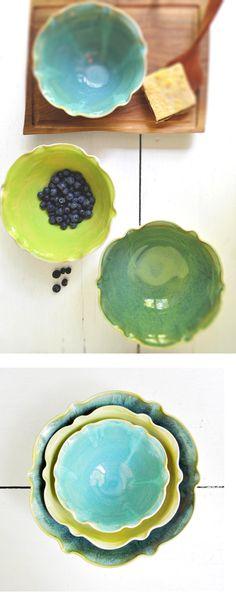 nesting bowl set in Organic Soul