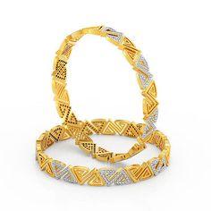 Hand Jewelry, Girls Jewelry, Gold Bangles Design, Jewelry Design, Diamond Bangle, Diamond Jewelry, Silk Bangles, Ladies Bangles, Jewellery Sketches