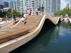 west 8 wavedeck    love the aspect of participation here...  curvy wood, water, invitation to join in...does it get any better??