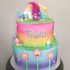 Trolls Cake. By Madison Hensley Cakery.