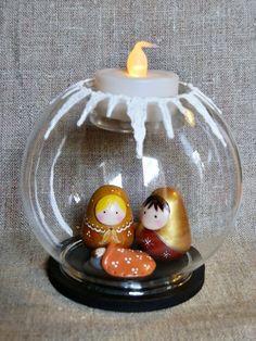 crèche poupée Russe bougeoir neige : Accessoires de maison par smaksall