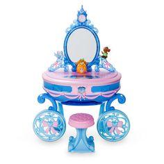 Disney Cinderella Carriage Light-Up Vanity Play Set Disney Princess Bedroom, Disney Princess Toys, Barbie Princess, Disney Toys, Toys For Girls, Kids Toys, Light Up Vanity, Cinderella Carriage, Cinderella Toys