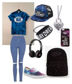 """Vans#2"" by gurveenpanesar ❤ liked on Polyvore featuring Vans, Topshop, Disney, Beats by Dr. Dre and Boohoo"
