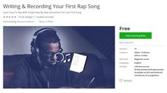 Coupon Udemy - Writing & Recording Your First Rap Song (Free) - Course…