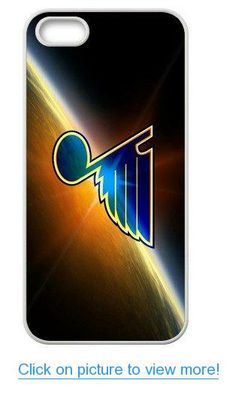Accurate Store NHL St. Louis Blues logo Iphone 5,5S TPU Case Cover