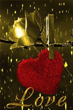 i love you gif Rose Flower Wallpaper, Heart Wallpaper, Love Wallpaper, Love You Gif, Love You Images, Beautiful Gif, Beautiful Flowers, Coeur Gif, Corazones Gif