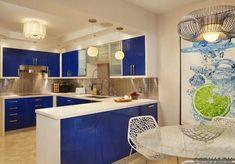 Красивый дизайн угловых кухонь, фото