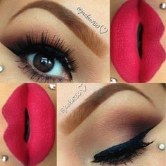 This makeup we can use of  day or night only change the color in the lips