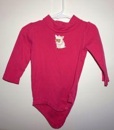 8644791e0ef55 Gymboree Girls 12-18 months Pink Doggie Onesie