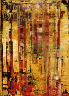 Abstract Painting Gerhard Richter oil on canvas 1992 Contemporary Abstract Art, Modern Art, Gerhard Richter Painting, Action Painting, European Paintings, Western Art, Art Plastique, Hanging Art, Figurative Art