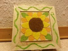 Small sunflower sand painted jewelry box