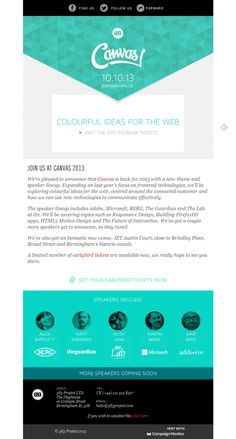 Beautiful Email Newsletters » Blog Archive Canvas » Beautiful Email Newsletters