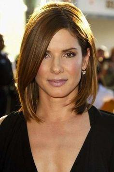 Peinados para mujeres de 40 años: fotos de los peinados - Sandra Bullock look