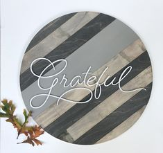 Excited to share this item from my #etsy shop: Farmhouse decor, Farmhouse wood wall art, Farmhouse grateful sign, Farmhouse thankful sign, Farmhouse welcome sign. Sign Sayings, Door Swag, House Signs, Wood Circles, Round Door, Cricut Fonts, Scarf Crochet, Painted Sticks, Wood Rounds