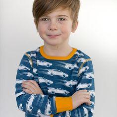 Fast Car Organic Top - ittikid • Scandinavian Children's Clothes - Scandinavian Baby and Kids Clothes | Organic Eco Friendly Kids Clothes from Smafolk, Maxomorra, Duns Sweden, Sture & Lisa