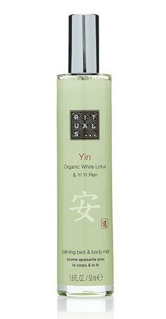 rituals yin body and linen spray makes your bed smell like the Four Seasons #sleep