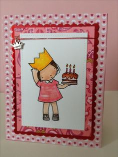 #mftstamps Birthday Princess, card by Melodie.