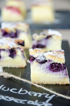Blueberry Cheesecake  Cheesecake-Schnitten mit Heidelbeeren oder ganz natur // BakingBarbarine