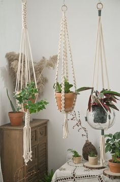 #macrameplanthanger #macramelove #macramemaker #macramesupply #hangingplanter #simplemacrame #handmade #etsyfinds #etsy #macramewallhanging #bohodecor #modernmacrame #ropeplanthanger #crochetplanthanger #spiralmacrame #decorativeplanter #houseplants #plantlovergifts #giftsforher #macramehanger #verticalplanthanger #gardening #verticalgardening #macrameideas #macrameprojects #wallplanter #crafts #highceilingplanter #heavypotholder #longhangingplanter #largeplanthanger #housewarming… Large Hanging Planters, Decorative Planters, Hanging Plants, Wall Planters, Crochet Plant Hanger, Macrame Plant Holder, Plant Hangers, Plant Shelves, Hanging Shelves