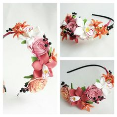 Headband. Handmade flowers. Flowers. Handmade. Handcrafted. Hair accessories. Wedding flowers. Wedding accessories. Wedding. Flowers.