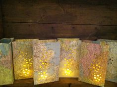 hole punch map bags & put lights in them..cute!