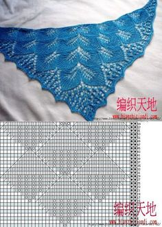 Knitting Paterns Lace Knitting Knitting Stitches Knitting Projects Crochet Projects Crochet Poncho Knitted Shawls Shawls And Wraps Scarf Wrap Lace Knitting Stitches, Lace Knitting Patterns, Shawl Patterns, Lace Patterns, Hand Knitting, Knitted Shawls, Crochet Shawl, Diy Crochet, Crochet Capas
