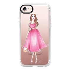 Pink spring dress - iPhone 7 Case And Cover (€34) ❤ liked on Polyvore featuring accessories, tech accessories, iphone case, apple iphone case, pink iphone case, iphone cover case, clear iphone case and iphone cases