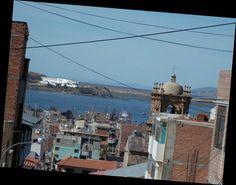 O Titikaka avistado de trás da Catedral