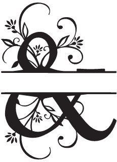 Monograms & Alphabets > Split Monograms Alphabet Design, Monogram Alphabet, Free Monogram, Monogram Fonts, Embroidery Transfers, Machine Embroidery, Silhouette Files, Silhouette Cameo, Letter Symbols