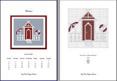 "Photobucket; free cross stitch pattern in PDF format; ""Tiny Beach House"""