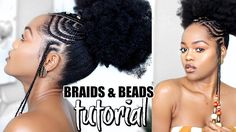 HOW TO: AFRICAN FULANI-INSPIRED BRAIDS AND BEADS TUTORIAL GRWM [Video] - https://blackhairinformation.com/video-gallery/african-fulani-inspired-braids-beads-tutorial-grwm-video/