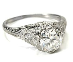 C'est Tout engagement ring. Yet another beautiful antique engagement ring