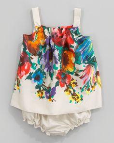 Dolce & Gabbana Floral-Print Poplin Sleeveless Dress