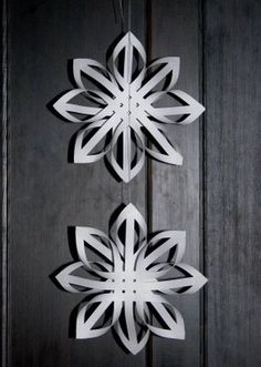 Another fun 3D Snowflake we make every year that I can never find the instructions for!