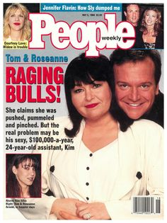 tom arnold and roseanne barr Roseanne Barr, Jennifer Flavin, Clash Of The Titans, Hollywood Couples, Old Flame, Raging Bull, Courtney Love, Sylvester Stallone