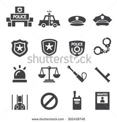 police icon - stock vector