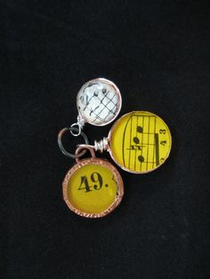 No 49 Musical Charm Set Pendant Dangle by LaReinDesCharms on Etsy, $12.95
