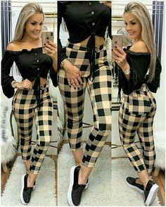 Image may contain: 2 people, people standing Classy Outfits, Sexy Outfits, Stylish Outfits, Fall Outfits, Summer Outfits, Fashion Pants, Look Fashion, Autumn Fashion, Fashion Dresses