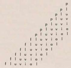 """""""Pluvial"""" (1959) de Augusto de Campos"""