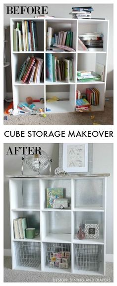 Cube Storage Makeover using sheet metal and wood