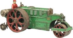 September 6-7 2013 Auction: Cast Iron Hubley Huber Road Roller Toy. #MorphyAuctions