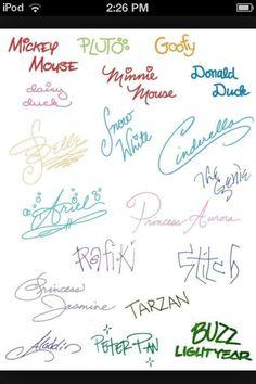 Disney signatures