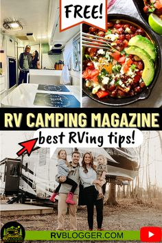 This month's FREE issue of RV Camping Magazine features well known full time RVer and YouTuber Less Junk More Journey! Get great tips on Avoiding a Poop Pyramid by NRVTA, cast iron camping recipes, an awesome motorhome renovation and see the 10 best RV destinations to add to your bucket list! Download this digital publication now! #rvblogger #rvcampingmagazine #rvmagazine #campingmagazine #rvrecipe #rvrenovation #bucketlist #lessjunkmorejourney #motorhome #rvnewbietips #castironrecipes