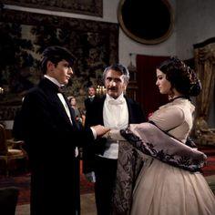 Still from Il gattopardo; with Claudia Cardinale.