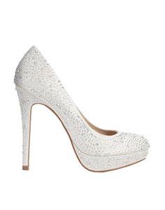 Faith Barber Embellished Satin Ivory Heeled Shoes, sale $99.02