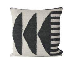 Ferm Living Shop — Kelim Black Triangles Pillow