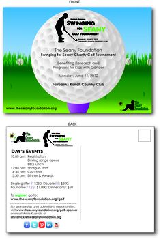 Check out the first artwork for our Golf Tournament www.theseanyfoundation.org/golf #golf #charity #celebrities #seanyfoundation #pediatriccancer