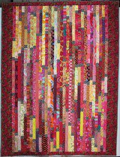 Exuberant Color: Random plank quilts