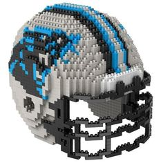"Carolina Panthers NFL 3D BRXLZ Puzzle Helmet Set. Contains apprx. 1400 pieces. The Finished Helmet Size is Approximately: 4.45"" X 5.5""X 4.5"" : *Brxlz Cannot Be Returned Once Opened*"