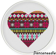 INSTANT DOWNLOAD,Free shipping Counted Cross stitch pattern,Cross-Stitch PDF,heart, zxxc0858 by danceneedle on Etsy